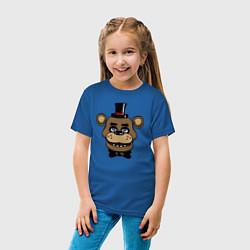 Футболка хлопковая детская Freddy FNAF цвета синий — фото 2