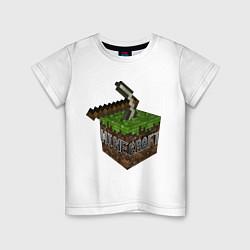Футболка хлопковая детская Minecraft Grabber цвета белый — фото 1