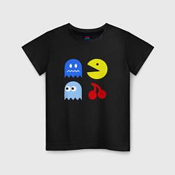 Футболка хлопковая детская Pac-Man Pack цвета черный — фото 1