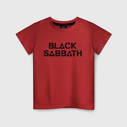 Футболка хлопковая детская Black Sabbath цвета красный — фото 1