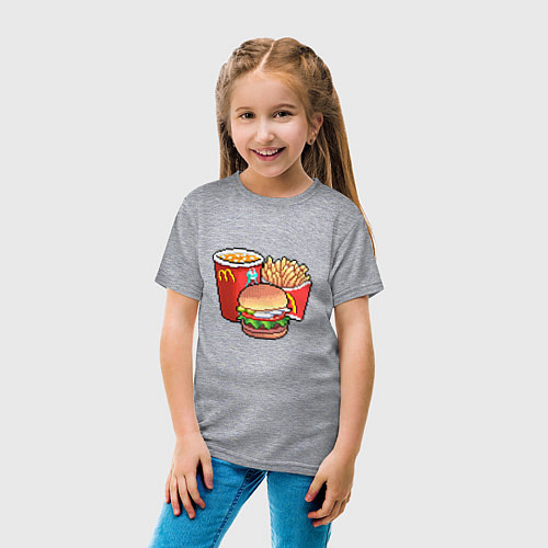 Детская футболка Фастфуд / Меланж – фото 4