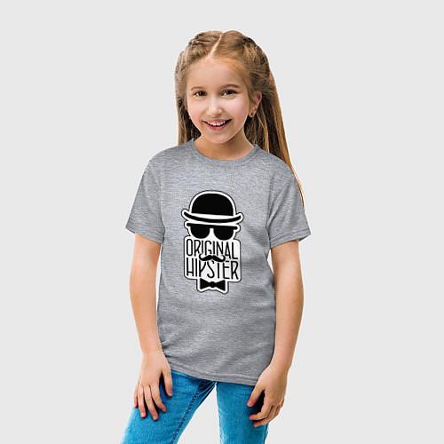 Детская футболка Original Hipster / Меланж – фото 4