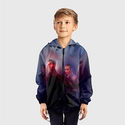 Ветровка с капюшоном детская Teen Wolves цвета 3D-черный — фото 2