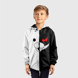 Ветровка с капюшоном детская Monokuma цвета 3D-черный — фото 2