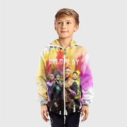 Ветровка с капюшоном детская Coldplay цвета 3D-белый — фото 2
