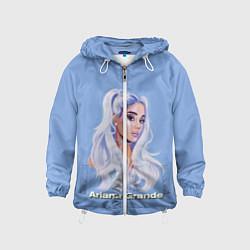 Ветровка с капюшоном детская Ariana Grande Ариана Гранде цвета 3D-белый — фото 1