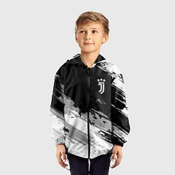 Ветровка с капюшоном детская Juventus F C цвета 3D-черный — фото 2