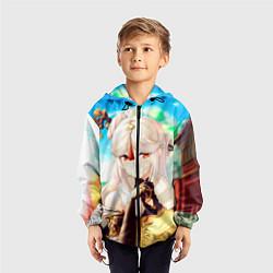 Ветровка с капюшоном детская Геншин Импакт Нин Гуан цвета 3D-черный — фото 2