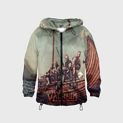Ветровка с капюшоном детская Valheim викинги цвета 3D-черный — фото 1