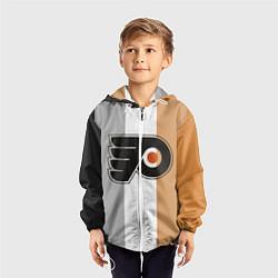 Ветровка с капюшоном детская Philadelphia Flyers цвета 3D-белый — фото 2