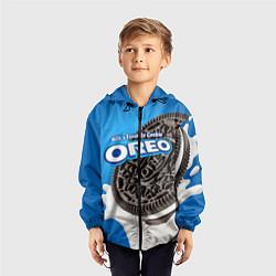 Ветровка с капюшоном детская Oreo цвета 3D-черный — фото 2