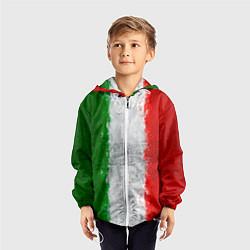 Ветровка с капюшоном детская Italian цвета 3D-белый — фото 2