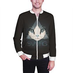 Бомбер мужской Cat цвета 3D-белый — фото 2