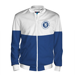 Бомбер мужской Chelsea FC: Light Blue цвета 3D-белый — фото 1