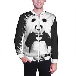 Бомбер мужской Panda Love цвета 3D-белый — фото 2