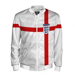 Бомбер мужской Сборная Англии цвета 3D-белый — фото 1