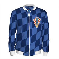 Бомбер мужской Сборная Хорватии цвета 3D-белый — фото 1