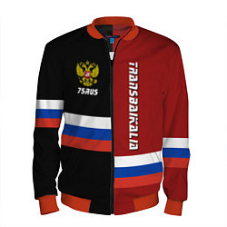 Бомбер мужской Transbaikalia, Russia цвета 3D-красный — фото 1