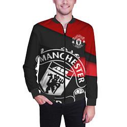 Бомбер мужской FC Man United: Exclusive цвета 3D-черный — фото 2
