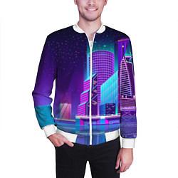 Бомбер мужской Neon Nights цвета 3D-белый — фото 2