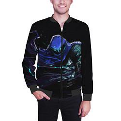 Бомбер мужской Omen цвета 3D-черный — фото 2