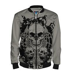 Бомбер мужской Skulls цвета 3D-черный — фото 1