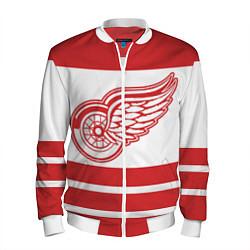 Бомбер мужской Detroit Red Wings цвета 3D-белый — фото 1