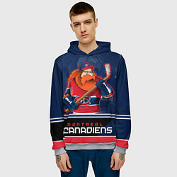 Толстовка-худи мужская Montreal Canadiens цвета 3D-меланж — фото 2