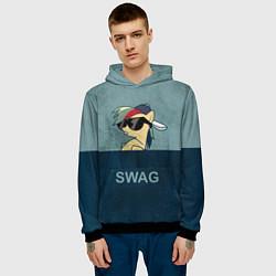 Толстовка-худи мужская My SWAG Pony цвета 3D-черный — фото 2