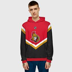 Толстовка-худи мужская NHL: Ottawa Senators цвета 3D-красный — фото 2