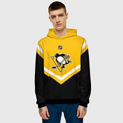 Толстовка-худи мужская NHL: Pittsburgh Penguins цвета 3D-черный — фото 2