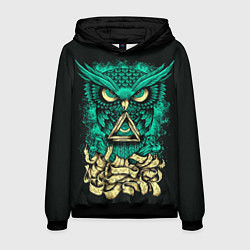Толстовка-худи мужская Bring Me The Horizon: Owl цвета 3D-черный — фото 1
