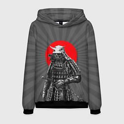 Толстовка-худи мужская Мертвый самурай цвета 3D-черный — фото 1