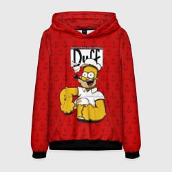Толстовка-худи мужская Duff Beer цвета 3D-черный — фото 1