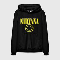 Толстовка-худи мужская Nirvana Rock цвета 3D-черный — фото 1