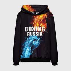 Толстовка-худи мужская Boxing Russia цвета 3D-черный — фото 1