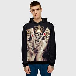 Толстовка-худи мужская Poker Skull цвета 3D-черный — фото 2
