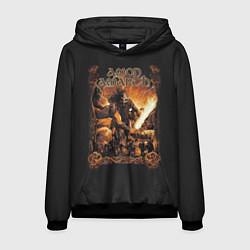 Толстовка-худи мужская Amon Amarth: Dark warrior цвета 3D-черный — фото 1