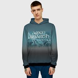 Толстовка-худи мужская Amon Amarth: The battle цвета 3D-черный — фото 2
