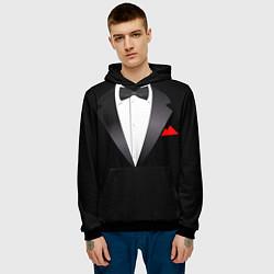 Толстовка-худи мужская Смокинг мистера цвета 3D-черный — фото 2