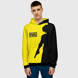 Толстовка-худи мужская PUBG: Yellow Shadow цвета 3D-черный — фото 2