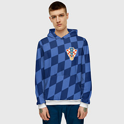 Толстовка-худи мужская Сборная Хорватии цвета 3D-белый — фото 2