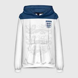 Толстовка-худи мужская Сборная Англии цвета 3D-белый — фото 1