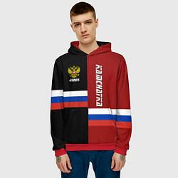 Толстовка-худи мужская Kamchatka, Russia цвета 3D-красный — фото 2