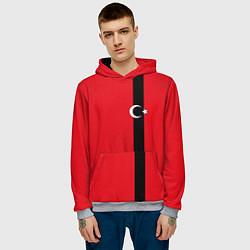 Толстовка-худи мужская Турция цвета 3D-меланж — фото 2