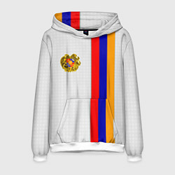 Толстовка-худи мужская I Love Armenia цвета 3D-белый — фото 1