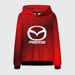Толстовка-худи мужская Mazda: Red Carbon цвета 3D-черный — фото 1