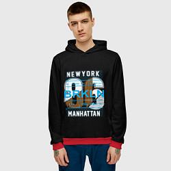 Толстовка-худи мужская New York: Manhattan 86 цвета 3D-красный — фото 2