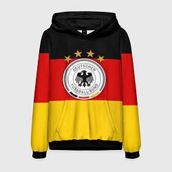 Толстовка-худи мужская Немецкий футбол цвета 3D-черный — фото 1