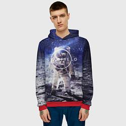 Толстовка-худи мужская Starfield: Astronaut цвета 3D-красный — фото 2